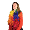 RAINBOW ECONOMY FEATHER BOA  PARTY SUPPLIES