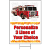 FIRETRUCK PERSONALIZED YARD SIGN PARTY SUPPLIES