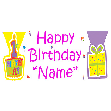 PERSONALIZED FIRST WISH GIRL BANNER PARTY SUPPLIES