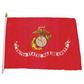 Click for larger picture of 4X6 MUSLIN FLAG-. MARINES (36/CS) PARTY SUPPLIES