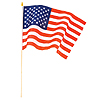 USA CLOTH FLAG WOOD STICK (12X18 IN.)EA PARTY SUPPLIES