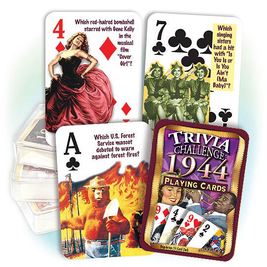 1944 Party Supplies 1944 Trivia Playing Cards