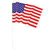 USA PLASTIC FLAG  (11X17 IN.) (12/PKG) PARTY SUPPLIES