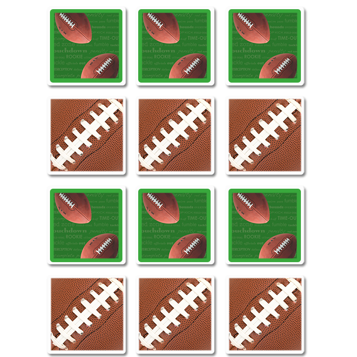 Click for larger picture of FOOTBALL COASTERS PARTY SUPPLIES