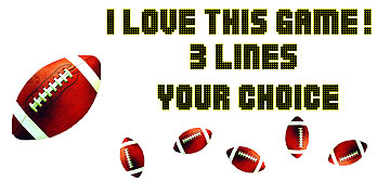 Click for larger picture of PERSONALIZED FOOTBALL BANNER PARTY SUPPLIES