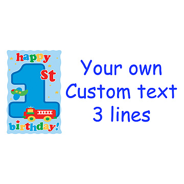 PERSONALIZED FUN AT ONE BOY BANNER PARTY SUPPLIES