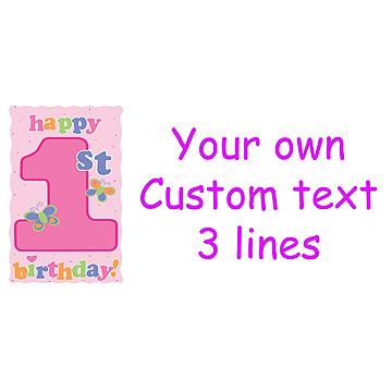 PERSONALIZED FUN AT ONE GIRL BANNER PARTY SUPPLIES