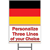 GERMANY YARD SIGN PARTY SUPPLIES