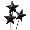 GLITTER STAR ON STICK BLACK (36/CS) PARTY SUPPLIES