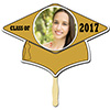 GOLD GRAD CAP PHOTO PADDLE PARTY SUPPLIES