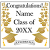 GOLD MORTARBOARD GRAD DOOR BANNER PARTY SUPPLIES