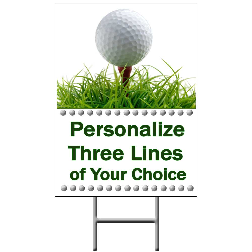 Click for larger picture of GOLF YARD SIGN PARTY SUPPLIES