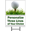 GOLF YARD SIGN PARTY SUPPLIES