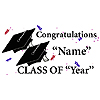 PERSONALIZED GRADUATION BANNER BLACK PARTY SUPPLIES
