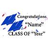 PERSONALIZED GRADUATION BANNER BLUE PARTY SUPPLIES