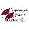 PERSONALIZED GRADUATION BANNER BURGUNDY PARTY SUPPLIES