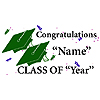PERSONALIZED GRADUATION BANNER GREEN PARTY SUPPLIES