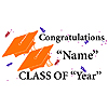PERSONALIZED GRADUATION BANNER ORANGE PARTY SUPPLIES