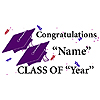 PERSONALIZED GRADUATION BANNER PURPLE PARTY SUPPLIES