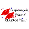 PERSONALIZED GRADUATION BANNER RED PARTY SUPPLIES