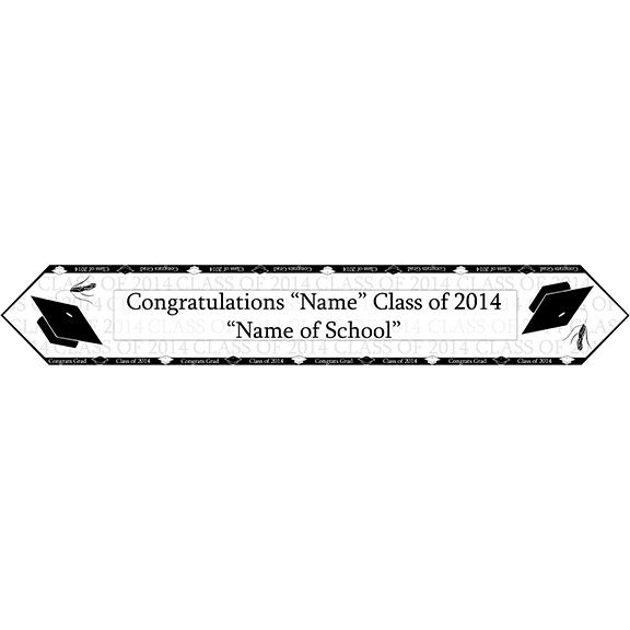 2014 BLACK GRADUATION TABLE BANNER PARTY SUPPLIES