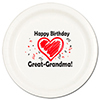 GREAT-GRANDMA BIRTHDAY LOVE DINNER PLATE PARTY SUPPLIES