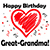BIRTHDAY LOVE - GREAT GRANDMA
