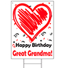GREAT-GRANDMA BIRTHDAY LOVE YARD SIGN PARTY SUPPLIES