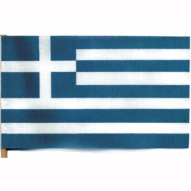 Click for larger picture of 4X6 MUSLIN FLAG- GREECE (36/CS) PARTY SUPPLIES