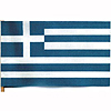 GREECE HANDHELD FLAG (4X6 IN.) PARTY SUPPLIES