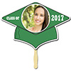 GREEN GRAD CAP PHOTO PADDLE PARTY SUPPLIES