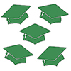 GREEN MORTARBOARD GRAD DECO FETTI PARTY SUPPLIES