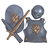 KNIGHT ARMOR KIDS  BATTLE SET 4/PC PARTY SUPPLIES