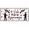 PERSONALIZED GANGSTER BANNER PARTY SUPPLIES