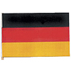 4X6 MUSLIN FLAG- GERMANY (36/CS) PARTY SUPPLIES