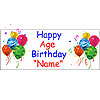 PERSONALIZED CLASSIC BALLOON AGE BANNER PARTY SUPPLIES