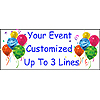 PERSONALIZED CLASSIC BALLOON BNR 3 LINES PARTY SUPPLIES