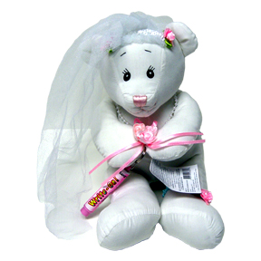 Click for larger picture of BRIDE BEAR - 14 INCH WRITE-ON WITH PEN PARTY SUPPLIES