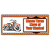 PERSONALIZED HAWG MOTORCYCLE BANNER PARTY SUPPLIES