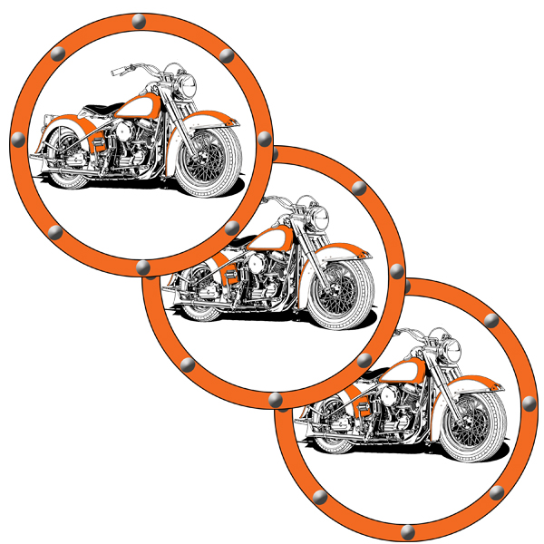 HAWG MOTORCYCLE DECO FETTI PARTY SUPPLIES