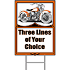HAWG MOTORCYCLE PERSONALIZED YARD SIGN PARTY SUPPLIES