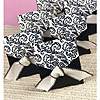 BLACK & IVORY FLOURISH FAVOR BOXES PARTY SUPPLIES