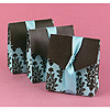 TURQ & BROWN FLOURISH FAVOR BOXES PARTY SUPPLIES