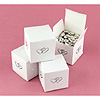 WHITE LINKED AT HEART FAVOR BOXES PARTY SUPPLIES