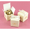 IVORY LINKED AT HEART FAVOR BOXES PARTY SUPPLIES