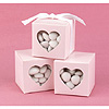 PINK HEART WINDOW FAVOR BOXES PARTY SUPPLIES