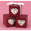 MERLOT HEART WINDOW FAVOR BOXES PARTY SUPPLIES