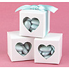 WHITE HEART WINDOW FAVOR BOXES PARTY SUPPLIES