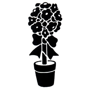 Click for larger picture of DISCONTINUED TOPIARY TREE RUBBER STAMP PARTY SUPPLIES