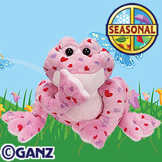 DISCONTINUED LOVE FROG WEBKINZ 8.5 IN PARTY SUPPLIES